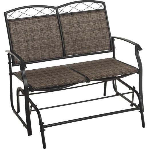Outdoor Expressions Windsor Black & Gray Steel Double Glider