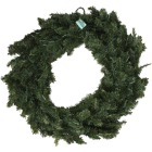 Gerson 36 In. 150-Bulb Clear Incandescent Canadian Pine Prelit Wreath Image 2